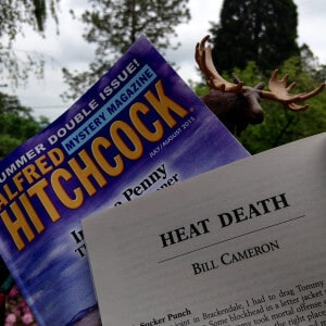 """Heat Death"" by Bill Cameron, appearing in Alfred Hitchcock's Mystery Magazine, July/August 2015"