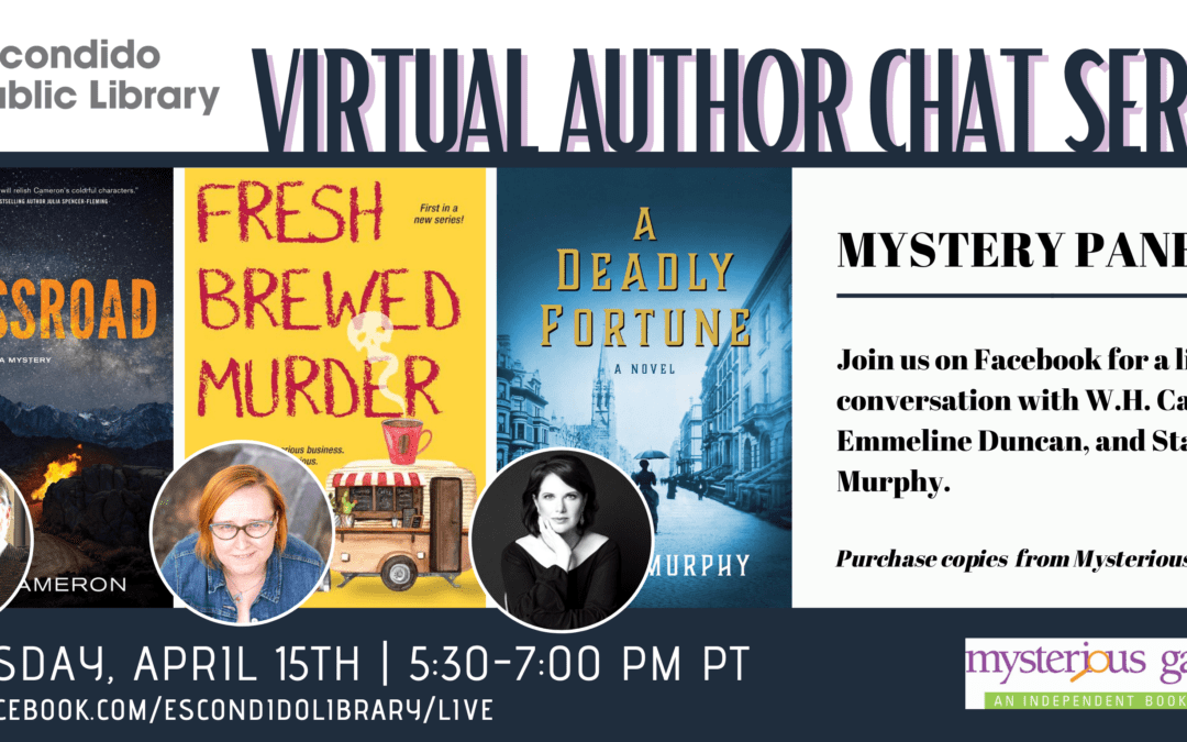 W.H. Cameron Joins a Mystery Panel Hosted by the Escondido Library on April 15, 2021